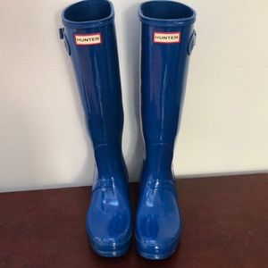 Blue HUNTER Rain Boots